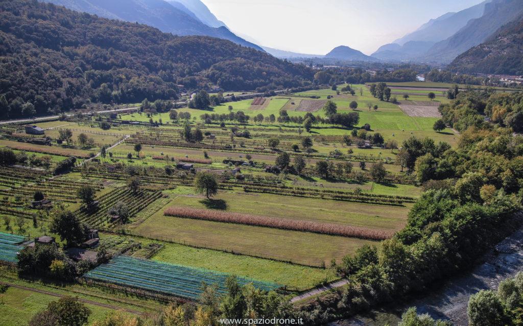 cividate camino foto drone panoramia