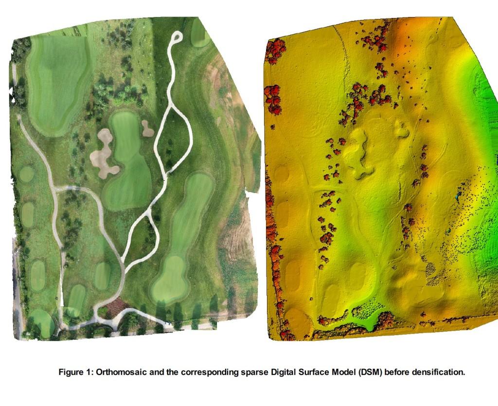 Rilievo 3d campo da golf drone