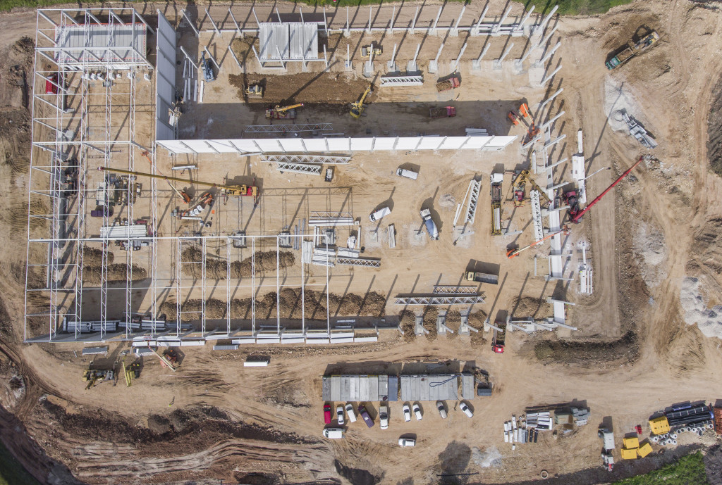 drone construction inspection photogrammetry cantiere