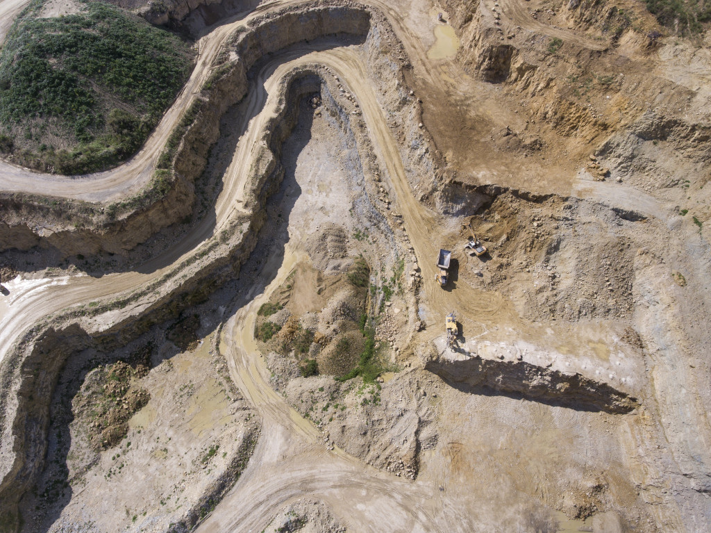 drone cava marmo rilievo quarry