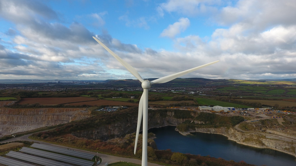 drone eoliche wind turbine