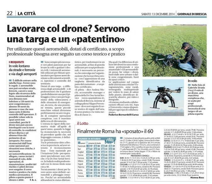 Brescia intervista droni civili Andrea Mochi