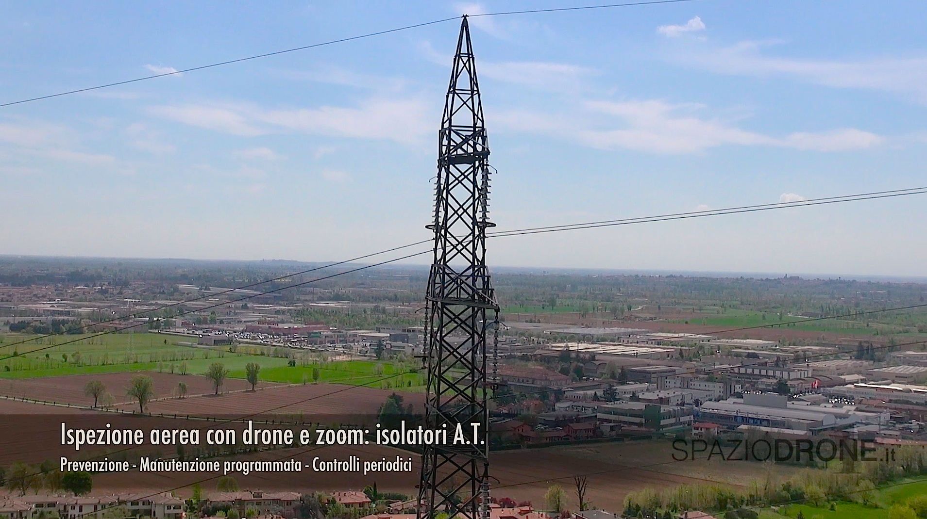 drone ispezioni tralicci isolatori