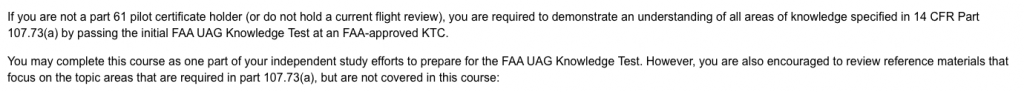 FAA ONLINE COURSE Suggests