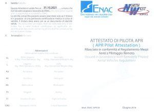 patentino attestato enac pilota drone