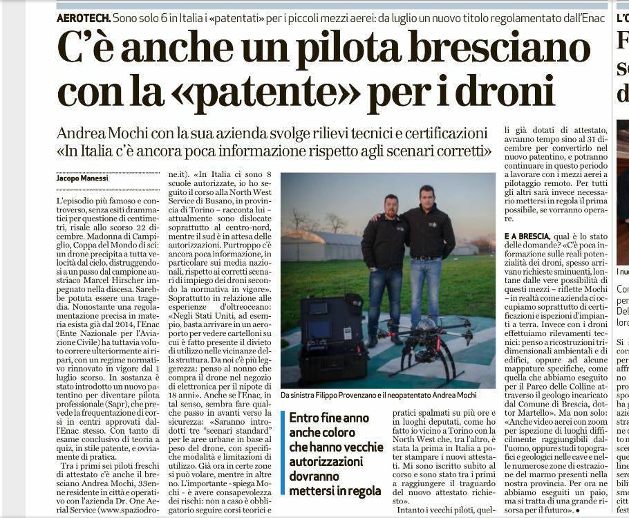 pilota drone mochi brescia