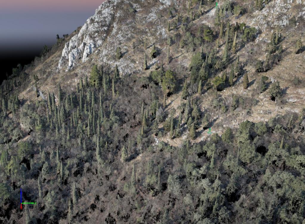 rilievo mascheda nuvola punti drone